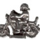 Biker   Pewter Mini Figurines Lot of 5
