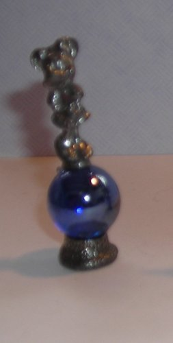 Minnie Mouse  Mini Pewter Figurines on  Marble Blue