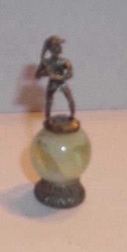 Baseball Player  Mini Pewter Figurines on  Marble