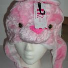 Plush Rabbit Faux Fake Fur Animal Pompom Hat