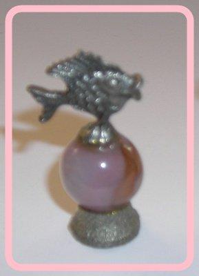 Fish Player Mini Pewter Figurines on  Marble