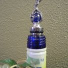 Dragon Blue Marble Pewter Bottle Stopper
