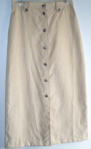 Lady Cheyenne Buff Ultra Suede Skirt Silver Conchos NWOT