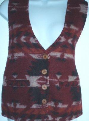 Cheyenne Autumn Vintage Saddle Blanket Cowgirl Vest