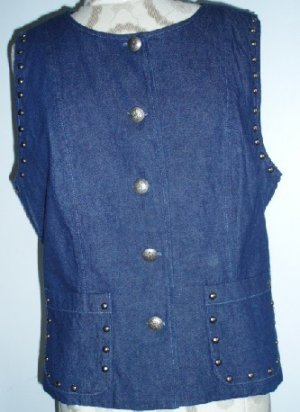 Stonebridge Ladies Denim n Concho Western Vest