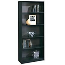 "72"" Five Shelf Bookcase & 3 shelf Bookcase Set - OPEN BOX - Black"