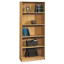 """72"""" Five Shelf Bookcase - Natural Oak"""