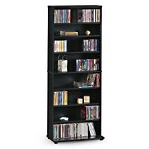 SOLD OUT - CD/DVD Multimedia Storage Tower - Black Oak