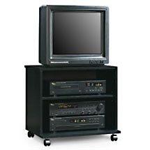 TV/VCR Cart - Black Oak