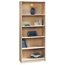 """72"""" Five Shelf Bookcase - Maple"""