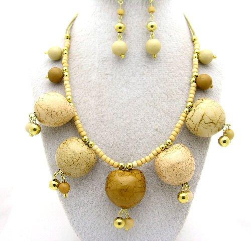 Brown/Tan Necklace Set