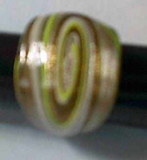 Yellow Swirls MURANO GLASS RING Size 8