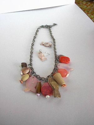 Pink Fish  NECKLACE SET