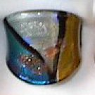 Blue Gold  MURANO GLASS RING Size 9