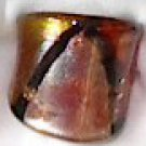 Brown  Gold  MURANO GLASS RING Size 6