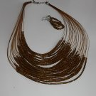 Bronze  Seedbead  NECKLACE SET