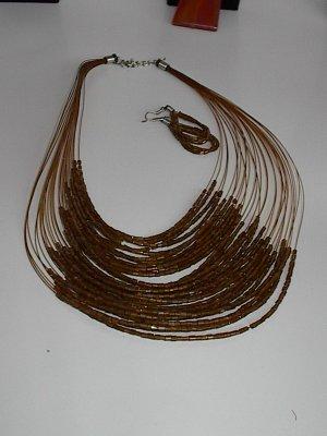 Bronze  Seedbead  NECKLACE SET