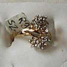 Multi Cluster Cz S Shape  Ring 18Gold Plated Size 5