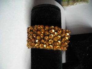 Gold  Sequien Bead  Band Stretch Bracelet