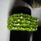 Lime Sequien Bead  Band Stretch Bracelet