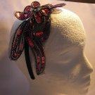 Red  Flower Applique Satin Headband