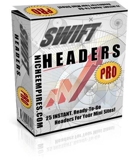 Swift Headers Pro 25 headers JPEG PSD Resell