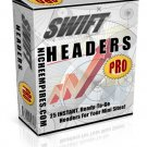 Swift Headers Pro 25 headers JPEG PSD Resell