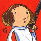 Personal Sketch Card - Star Wars Leia ACEO Original Art