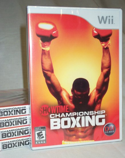 Showtime Championship Boxing - BRAND NEW FACTORY SEALED Wii Game