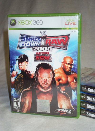 WWE SmackDown vs. Raw 2008 - BRAND NEW FACTORY SEALED Xbox 360 IN STOCK