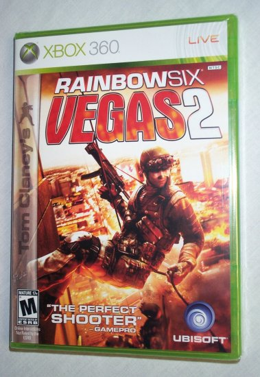 RAINBOW SIX VEGAS 2 - XBOX 360 - BRAND NEW FACTORY SEALED