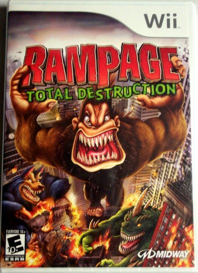 RAMPAGE TOTAL DESTRUCTION - NINTENDO Wii - BRAND NEW FACTORY SEALED