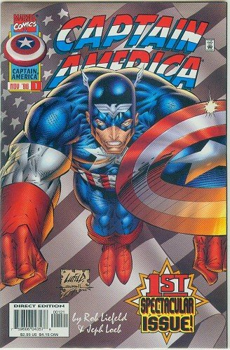 CAPTAIN AMERICA #1 1996 STARS & STRIPES VARIANT COVER