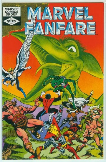 MARVEL COMICS FANFARE #3 1982 (X-Men)