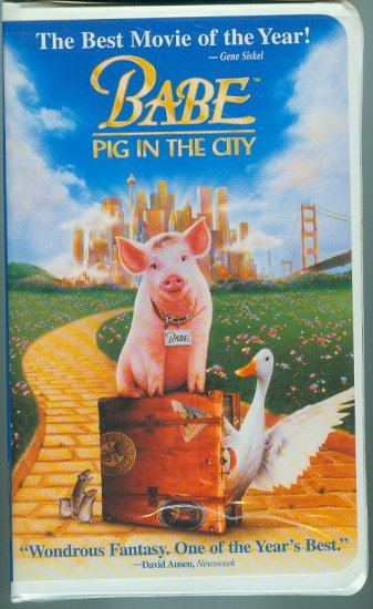 Babe: Pig in the City (VHS, 1999)