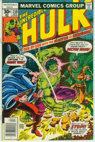 MARVEL COMICS INCREDIBLE HULK #210 (1977) BRONZE AGE