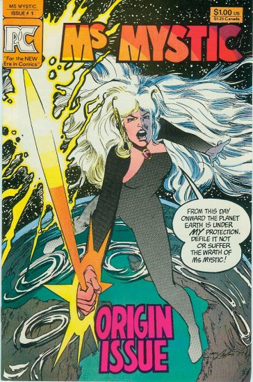 PACIFIC COMICS Ms MYSTIC #1 ORIGIN ISSUE 1982 NEAL ADAMS (FREE SHIPPING)