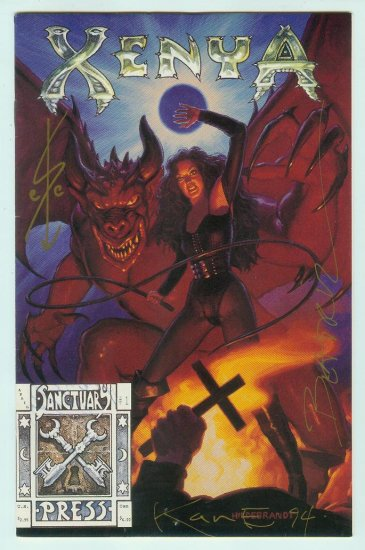 Sanctuary Press Xenya #1 Triple Signed (1994)