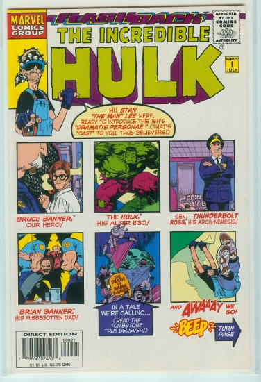 Incredible Hulk Minus 1 Flashback (1997) Rare Variant Cover