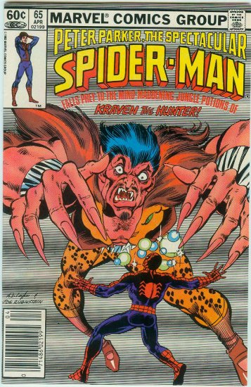 SPECTACULAR SPIDER-MAN #65 (1982)