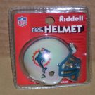 MIAMI DOLPHINS RIDDELL POCKET CHROME HELMET REG. VERSION