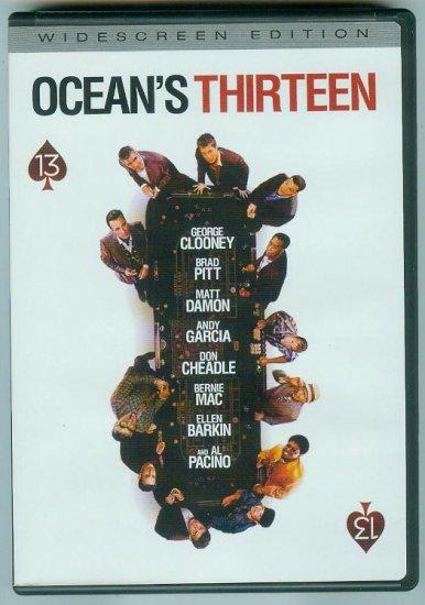OCEANS THIRTEEN (2007) (PLAYED ONCE) CLOONEY/DAMON/PITT/PACINO
