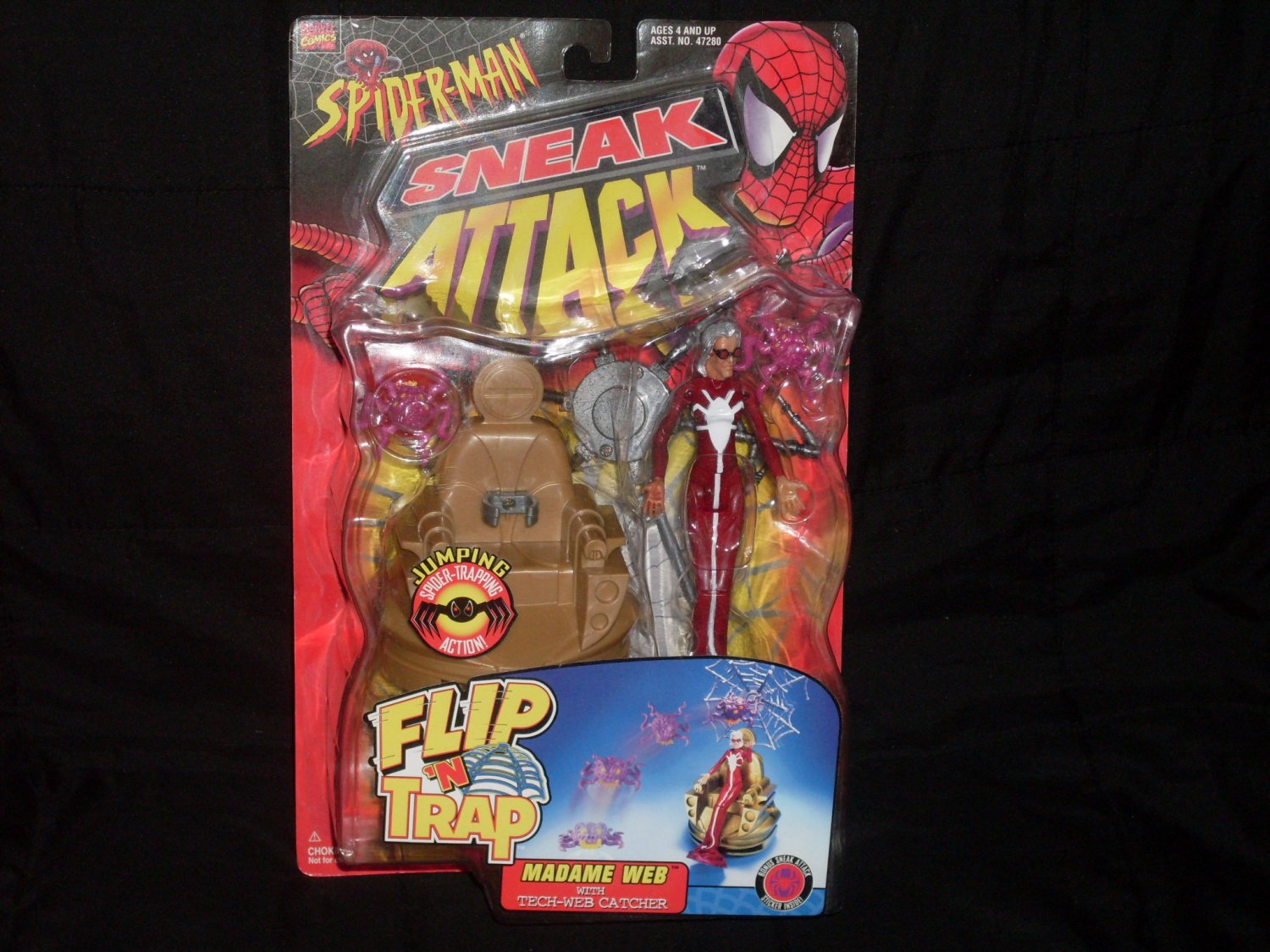 MADAME WEB FLIP & TRAP FROM SNEAK ATTACK SERIES (1998) Added Shipping Cost Outside USA
