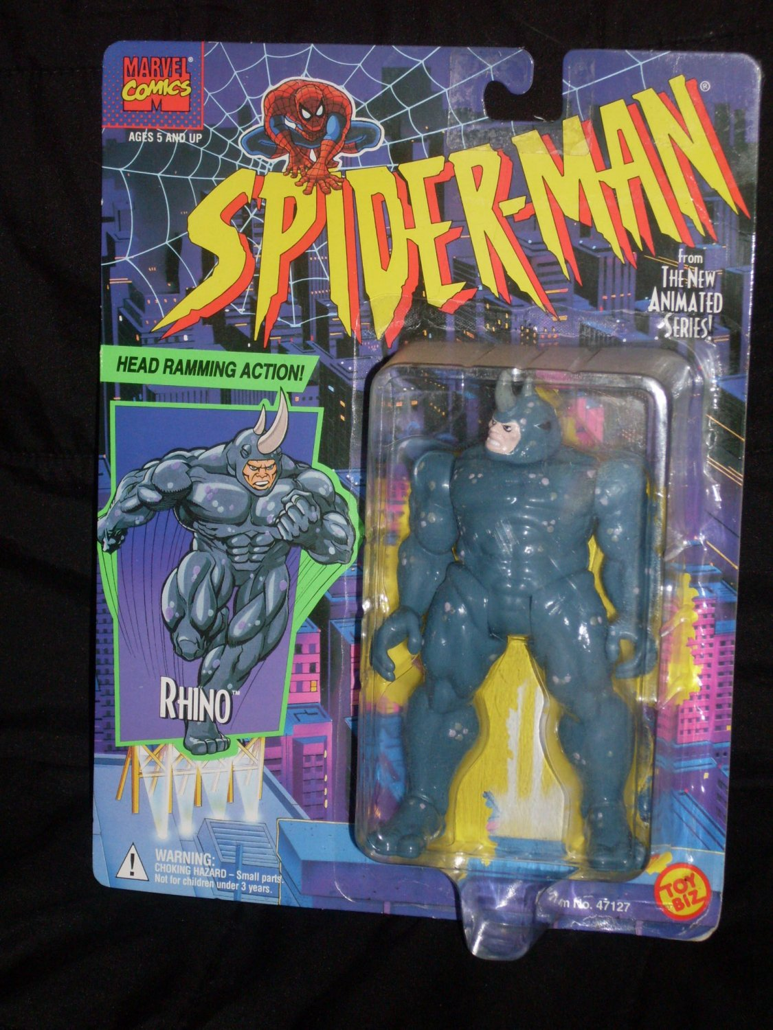 RHINO FROM SPIDER-MAN ANIMATED SERIES (1994) Added Shipping Cost Outside USA