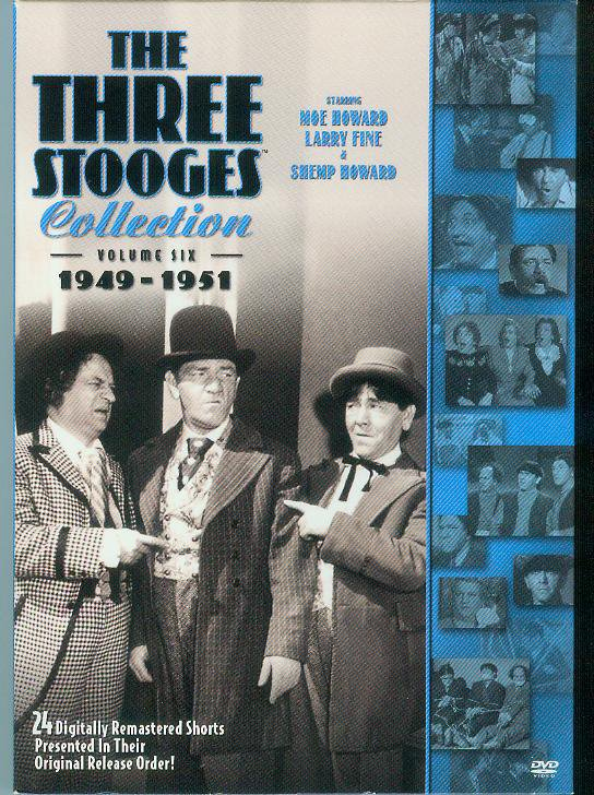 The Three Stooges Collection - Vol. 6: 1949-1951 (DVD 2009, 2-Disc Set ) (NEVER PLAYED)