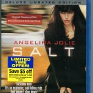 Salt (Blu-ray Disc, 2010, Unrated; Deluxe Edition) Angelina Jolie