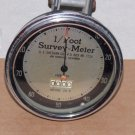 Rare A.E. Sheehan Co. 1/Foot Survey-Meter Model 20-P Works!! Nice Condition