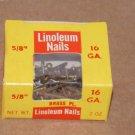 "(10) 2oz Boxes Linoleum Nails 5/8"" 16GA Brass PL. Tower Brand"
