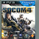 Socom 4 US Navy Seals PlayStation 3