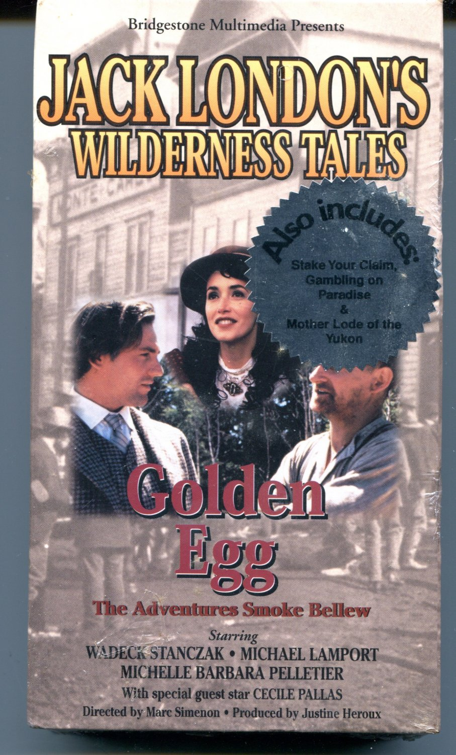 Jack London's Wilderness Tales: The Golden Egg, Adventures of Smoke Bellew (VHS 1991)